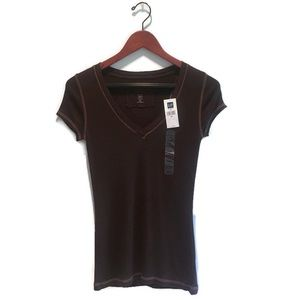 Gap short sleeve tee shirt in brown size small